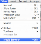 View Ribbon and Media Browser